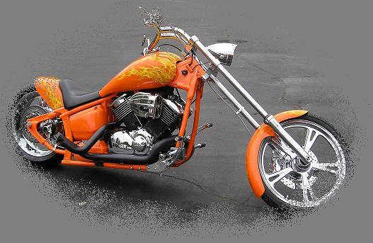 "Pacific Coast Star's ""Orange County Crush"" Yamaha V Star 1100"